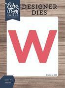 Letter W Die Set