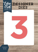 Number 3 Die Set