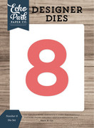 Number 8 Die Set