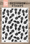 Pineapple Party A2 Background Stamp