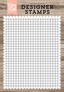 Grid A2 Background Stamp