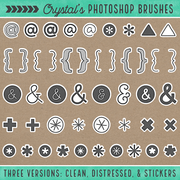 Crystal's Photoshop Brushes - Symbols