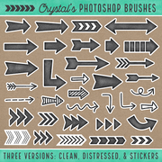 Crystal's Photoshop Brushes - Arrows