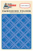 Are We There Yet? Embossing Folder - Bold Plaid