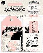 Wedding Bliss Frames & Tags Ephemera