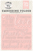 Wedding Bliss Embossing Folder - Forever Love