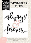 Always & Forever Word Die Set