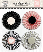 Wedding Bliss Mini Paper Fans