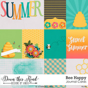 Bee Happy Journal Cards