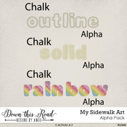 My Sidewalk Art Alpha Pack