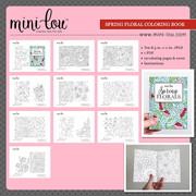 Spring Florals Coloring Book Printable