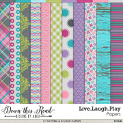 Live.Laugh.Play Paper Pack