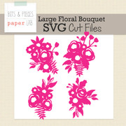 Large Floral Bouquet Cut Files