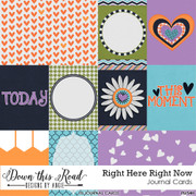 Right Here Right Now Journal Cards