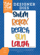 Beach Fun Word Die Set