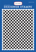 Checkered Flag A2 Background Stamp