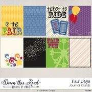 Fair Days Journal Cards