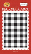 Buffalo Plaid A2 Background Stamp