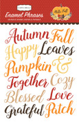 Hello Fall Enamel Words & Phrases