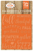 A Perfect Autumn Embossing Folder - Happy Fall