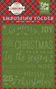 A Perfect Christmas Embossing Folder - Be Merry