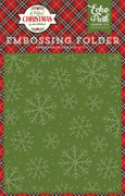 A Perfect Christmas Embossing Folder - Christmas Snowflakes