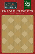 'Twas the Night Before Christmas Embossing Folder - Buffalo Plaid