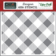 Diagonal Buffalo Plaid Stencil
