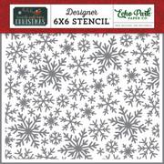 Snowflake Magic Stencil