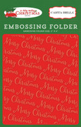 A Very Merry Christmas Embossing Folder - Merry Christmas