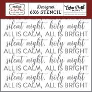 Silent Night Stencil