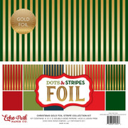 Christmas Gold Foil Stripe Collection Kit