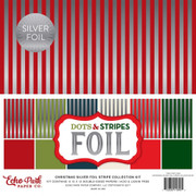 Christmas Silver Foil Stripe Collection Kit