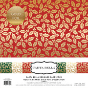 Holly & Berries Gold Foil Collection Kit