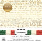 Holiday Sentiments Gold Foil Collection Kit