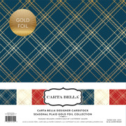 Seasonal Plaid Gold Foil Collection Kit