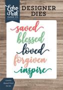 Loved & Blessed Word Die Set