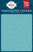 A Perfect Winter Embossing Folder - Frosty Snowflakes