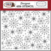 Frosted Snowflake Stencil