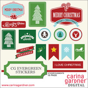 CG Evergreen Stickers