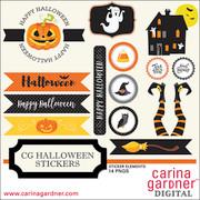 CG Halloween Stickers