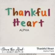 Thankful Heart Alpha Pack