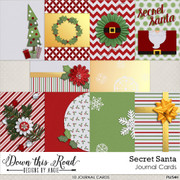 Secret Santa Journal Cards
