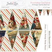 Printable Vintage Santa Garland/Bunting/Banner