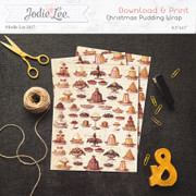Printable Christmas Wrap Paper - Vintage Pudding