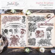 Digital Brushes - Vintage Flowers
