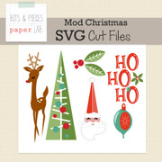 Mod Christmas Cut Files