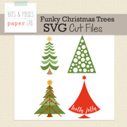 Funky Christmas Trees Cut File Set