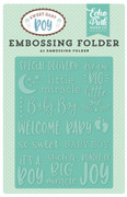 Sweet Baby Boy Embossing Folder - Special Delivery A2