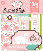 Sweet Baby Girl Frames & Tags Ephemera
